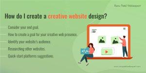 How do I create a creative website design?